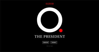 O. The President Website Screenshot