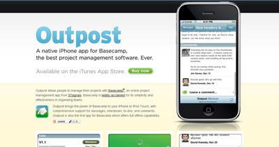 Outpost Website Screenshot