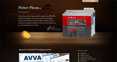 Pieter-Pleun Korevaar Website Screenshot