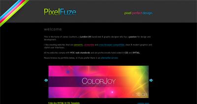 PixelFuze Website Screenshot