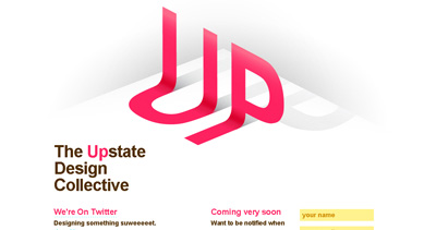 The Upstate Design Collective Website Screenshot