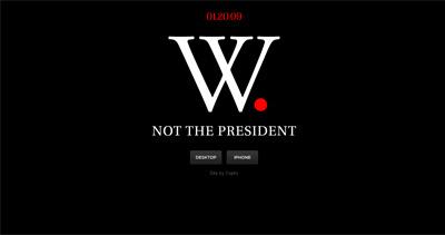 W. Not the President Website Screenshot
