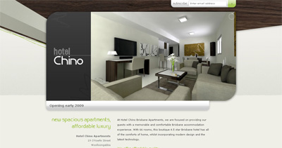 Hotel Chino Brisbane Website Screenshot