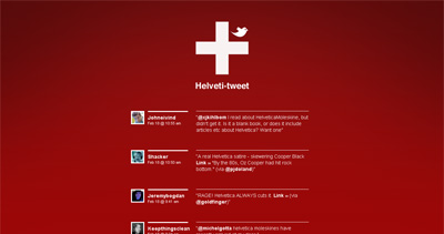 Helveti-Tweet Website Screenshot