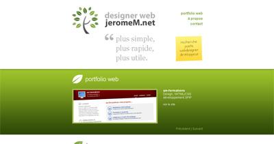 jeromeM Website Screenshot