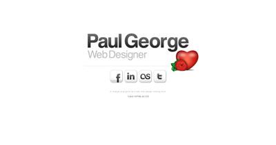 Paul George Website Screenshot