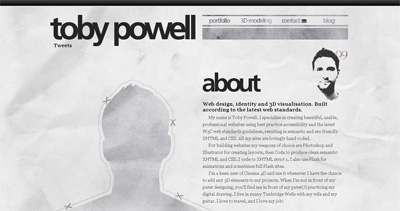Toby Powell Website Screenshot