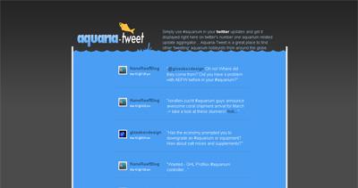 Aquaria Tweet Website Screenshot