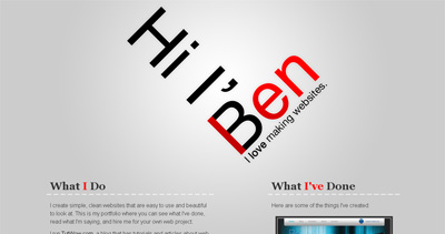 Ben Lind Website Screenshot