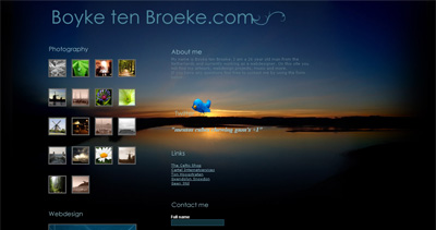 Boyke ten Broeke Website Screenshot