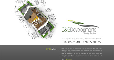 C&G Developments Website Screenshot