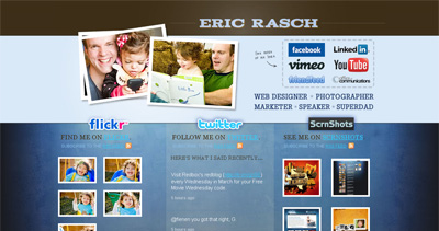 Eric Rasch Website Screenshot