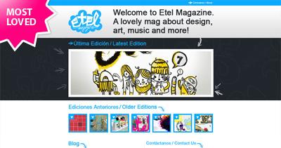 Etel Magazine Website Screenshot