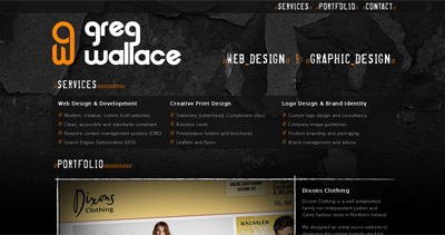 Greg Wallace Website Screenshot