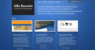 Jelke Boonstra Website Screenshot
