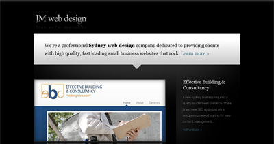 JM Web Design Website Screenshot