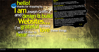 Joseph Griffin Website Screenshot