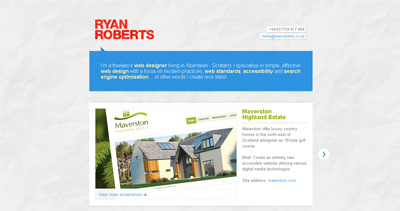 Ryan Roberts Website Screenshot