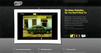 Seamless Design Studios Website Screenshot