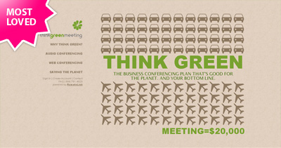 Think Green Meeting Website Screenshot