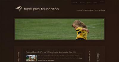 Triple Play Foundation Website Screenshot