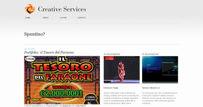 Creative Services Website Screenshot