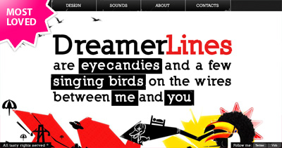 Dreamer Lines Website Screenshot