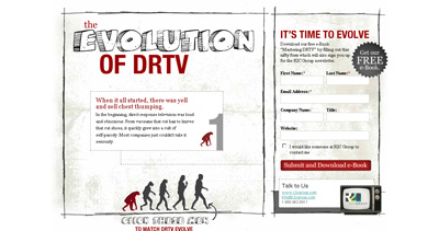Evolution of DRTV Website Screenshot