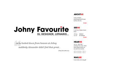 DJ Johny Favourite Website Screenshot