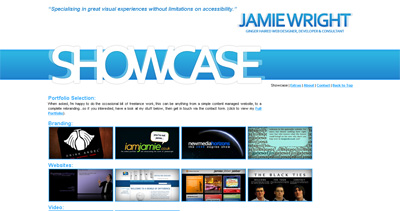 Jamie Wright Website Screenshot