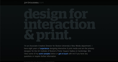Jon Brousseau Website Screenshot