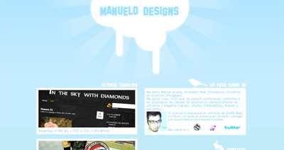 ManueloDesigns Website Screenshot
