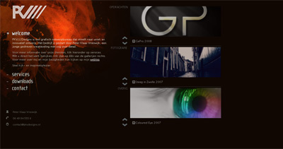 PKV Designs Website Screenshot