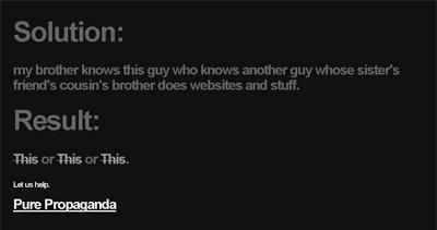 Pure Propaganda Website Screenshot