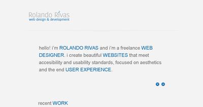 Rolando Rivas Website Screenshot