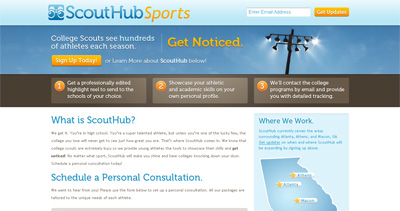 ScoutHub Website Screenshot