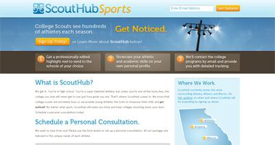 ScoutHub Website Screenshot