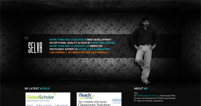 Selvakumar's Online Portfolio Website Screenshot