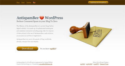 AntispamBee for WordPress Website Screenshot