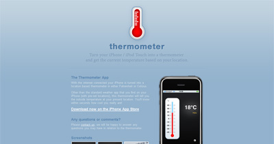 Thermometer App Website Screenshot
