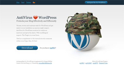 AntiVirus for WordPress Website Screenshot