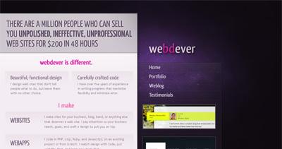 Webdever Website Screenshot