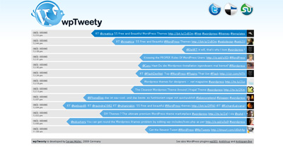 wpTweety Website Screenshot