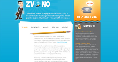 Zvono Website Screenshot