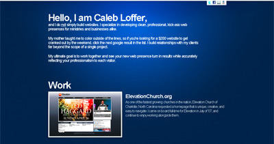 Caleb Loffer Website Screenshot