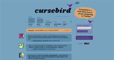 Cursebird Website Screenshot