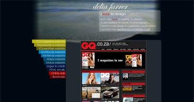 Delia Farrer Website Screenshot