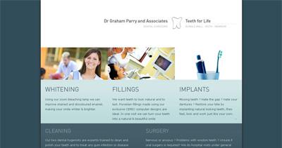 Dr Graham Parry Website Screenshot