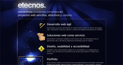 etecnos Website Screenshot