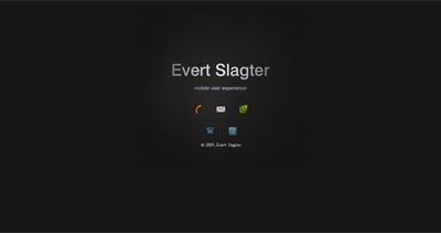 Evert Slagter Website Screenshot